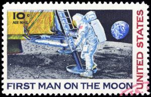 Moon Landing Stamp